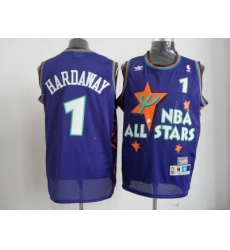 NBA Orlando Magic 95 All Star #1 Hardaway Purple Jerseys