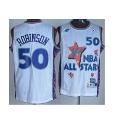 San Antonio Spurs 50 David Robinson White 95 All Star NBA Jerseys