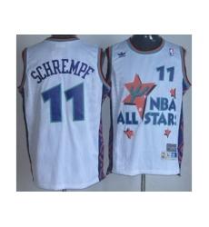 Seattle SuperSonics 11 Detlef Schrempf White 95 All Star NBA Jerseys