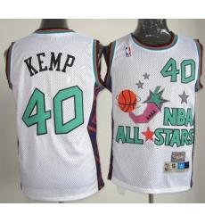 Seattle SuperSonics #40 Shawn Kemp 1995 All Star White NBA Jerseys