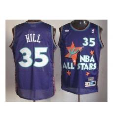 nba 95 all star #35 hill purple