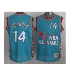 NBA 96 All Star #14 Brandon Blue Jerseys