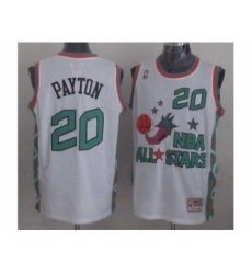 NBA 96 All Star #20 Payton White Jerseys