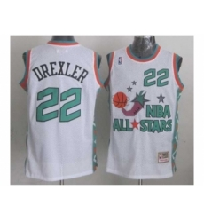 NBA 96 All Star #22 Drexler White Jerseys