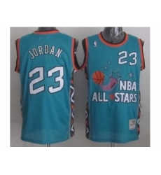 NBA 96 All Star #23 Jordan Blue Jerseys