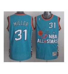 NBA 96 All Star #31 Miller Blue Jerseys