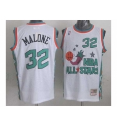 NBA 96 All Star #32 Malone White Jerseys