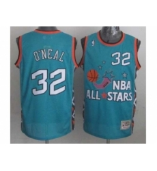 NBA 96 All Star #32 Oneal Blue Jerseys