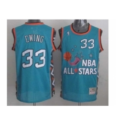 NBA 96 All Star #33 Ewing Blue Jerseys