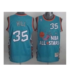 NBA 96 All Star #35 Hill Blue Jerseys