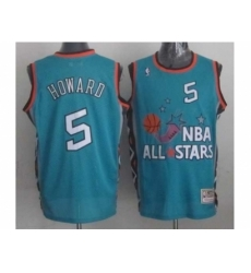 NBA 96 All Star #5 Howard Blue Jerseys