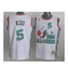 NBA 96 All Star #5 Kidd White Jerseys