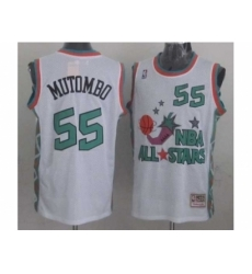 NBA 96 All Star #55 Mutombo White Jerseys