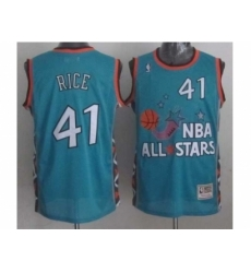 nba 96 all star #41 rice blue