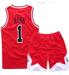 Youth NBA Chicago Bulls 1# Rose Red Suit Sets