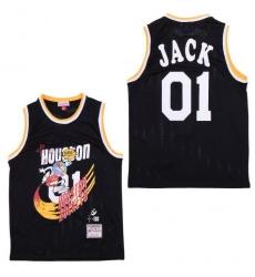 Men B&R Remix Jersey Rocket 01 Jack Black Throwback Jersey