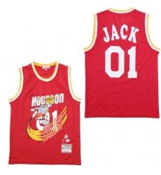 Men B&R Remix Jersey Rocket 01 Jack Red Throwback Jersey