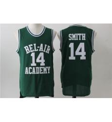 Men Bel Air Academy 14 Will Smith Green Stitched Movie Jersey