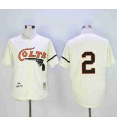 NFL Colts 2 Throwback 2 White Cream Jersey