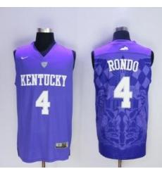 Ncaa Rajon rondo Kentucky wildcats college basketball jersey