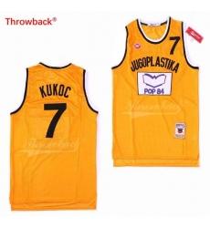 Toni Kukoc 7 Jugoplastika Split Basketball Jersey NBA