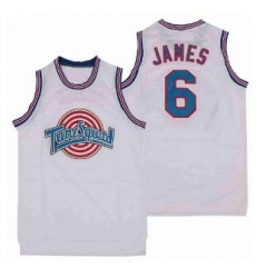 Tune Squad Space Movie jersey 6 White Lebron James