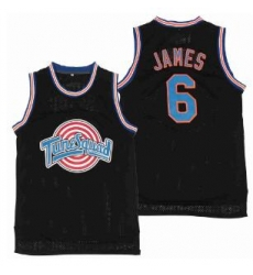 Tune Squad Space Movie jersey Black 6 Lebron James