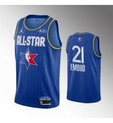 76ers 21 Joel Embiid Blue 2020 NBA All Star Jordan Brand Swingman Jersey
