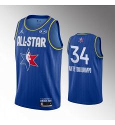 Bucks 34 Giannis Antetokounmpo Blue 2020 NBA All Star Jordan Brand Swingman Jersey