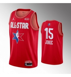 Nuggets 15 Nikola Jokic Red 2020 NBA All Star Jordan Brand Swingman Jersey
