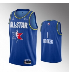 Suns 1 Devin Booker Blue 2020 NBA All Star Jordan Brand Swingman Jersey