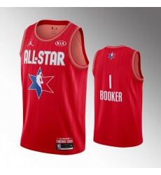 Suns 1 Devin Booker Red 2020 NBA All Star Jordan Brand Swingman Jersey