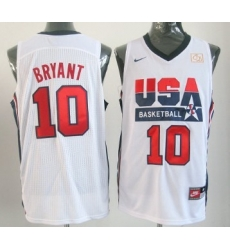 1992 Olympics Team USA 10 Kobe Bryant White Swingman Jersey