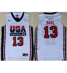 1992 Olympics Team USA 13 Chris Paul White Swingman Jersey