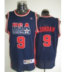 1992 Olympics Team USA 9 Michael Jordan Navy Blue Swingman Jersey