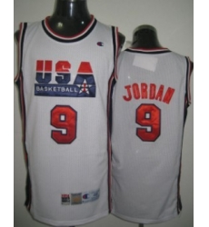 1992 Olympics Team USA 9 Michael Jordan White Swingman Jersey