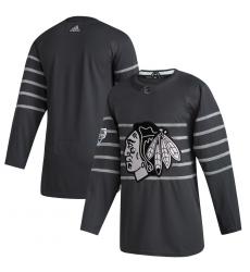 Blackhawks Blank Gray 2020 NHL All Star Game Adidas Jersey