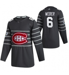 Canadiens 6 Shea Weber Gray 2020 NHL All Star Game Adidas Jersey