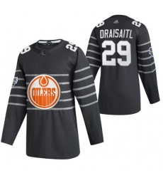 Oilers 29 Leon Draisaitl Gray 2020 NHL All Star Game Adidas Jersey