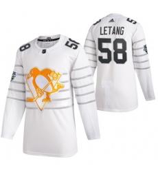 Penguins 58 Kris Letang White 2020 NHL All Star Game Adidas Jersey