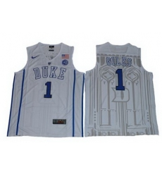 Blue Devils #1 Harry Giles White Basketball Elite Stitched NCAA Jersey