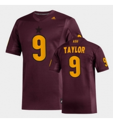 Men Arizona State Sun Devils D.J. Taylor Replica Maroon Football Jersey