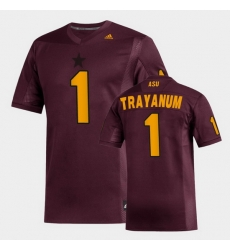 Men Arizona State Sun Devils Deamonte Trayanum Replica Maroon Football Jersey
