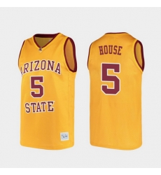 Men Arizona State Sun Devils Eddie House Alumni Gold College Basketball Jersey