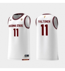 Men Arizona State Sun Devils Elias Valtonen White Replica College Basketball Jersey