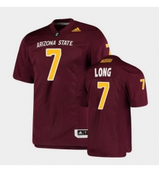 Men Arizona State Sun Devils Ethan Long College Football Maroon Premier Jersey