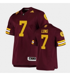 Men Arizona State Sun Devils Ethan Long Premier Maroon Football Jersey