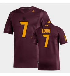 Men Arizona State Sun Devils Ethan Long Replica Maroon Football Jersey