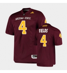 Men Arizona State Sun Devils Evan Fields College Football Maroon Premier Jersey