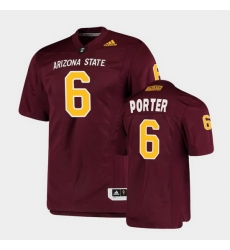 Men Arizona State Sun Devils Geordon Porter College Football Maroon Premier Jersey